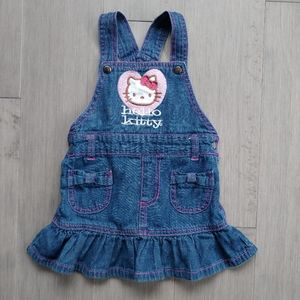 Hello Kitty Jean Overall Dress with Snaps, 2T